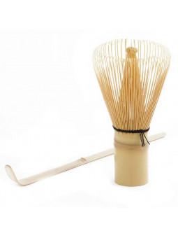Frusta di bambù e metro per tè matcha