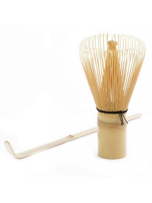 Fouet en bambou et compteur pour thé matcha