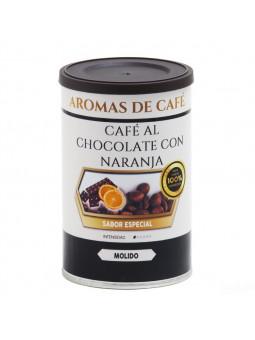 Kaffee mit Schokolade und Orange
