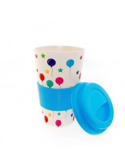 Mug de Globos Azules Biodegrable
