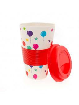 Mug de Globos Rojos Biodegrable