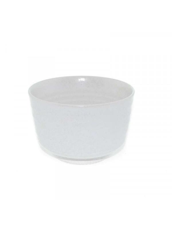 Cuenco para té matcha blanco