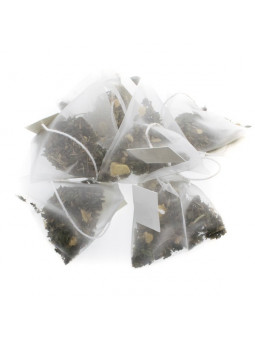 Pyramids of infusion of mint, licorice and anise
