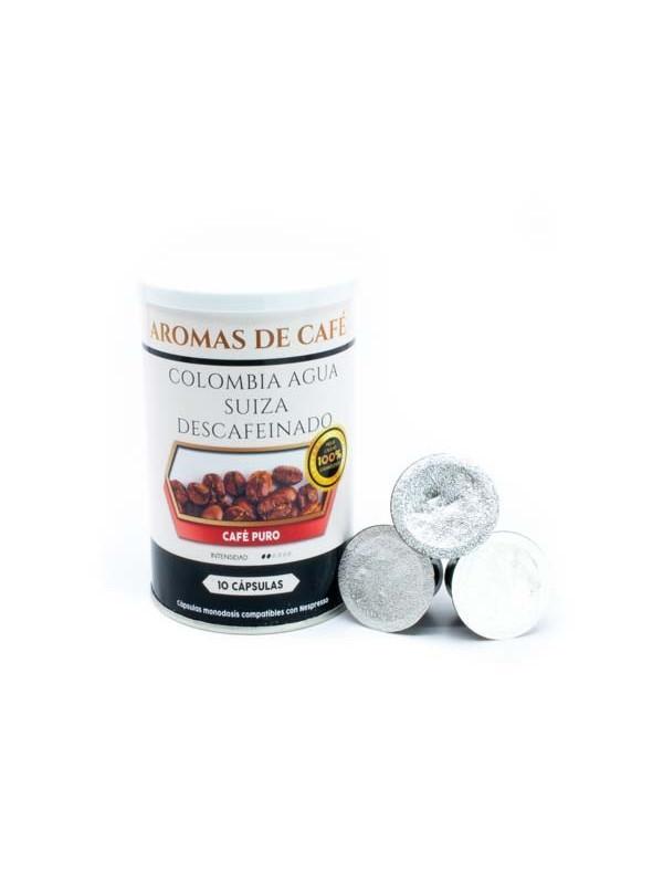 Cápsulas de Café Descafeinado Colombia Agua Suiza  compatible con nespresso