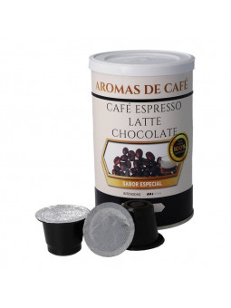 Cápsulas de Café Espresso Latte Chocolate compatibles con nespresso