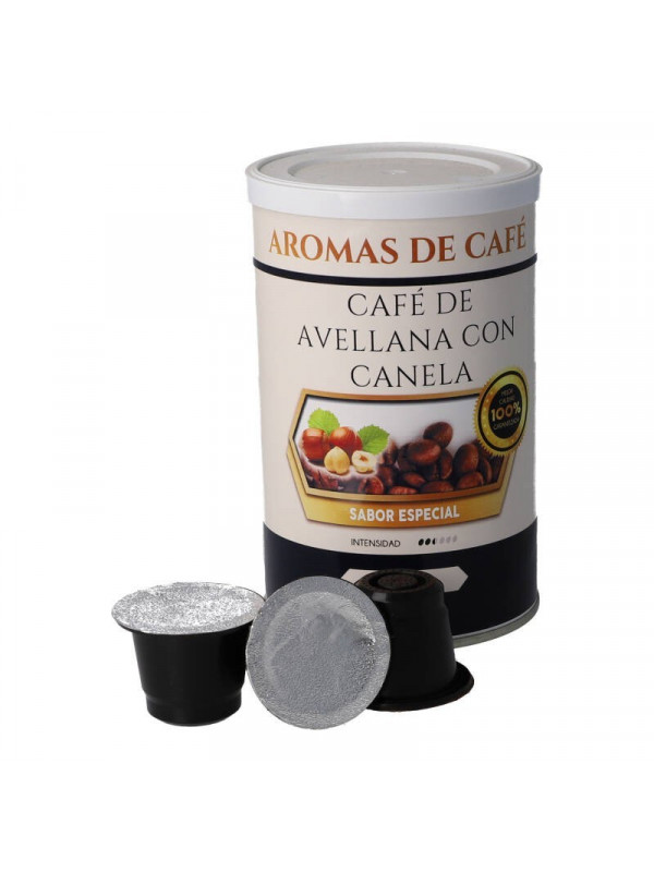Cápsulas de Café de Avellana con Canela compatibles con nespresso