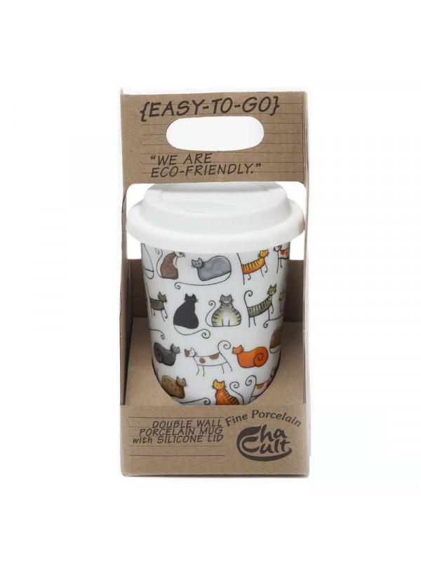 Vaso Térmico de Gatos con tapa de silicona